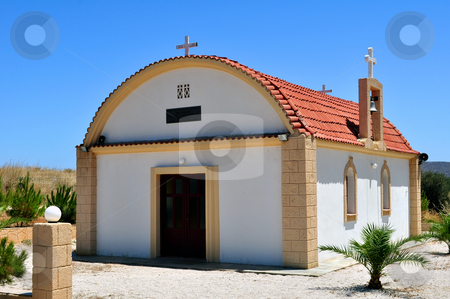 Greek chapel stock photo, Travel photography: chapel in the island of Crete, Greece. by Fernando Barozza