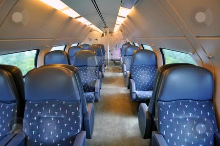 Passenger train coach stock photo, Travel: transportation by train in Amsterdam, Netherlands by Fernando Barozza