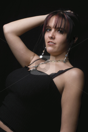 Fashion model - angle stock photo, Angle photo of a twenty something fashion model with rocker attitude by Yann Poirier