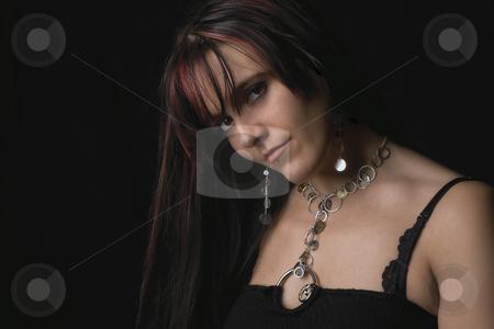 Fashion model stock photo, Twenty something fashion model looking sideways by Yann Poirier