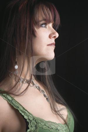 Fashion model - profile stock photo, Profile of a twenty something fashion model by Yann Poirier