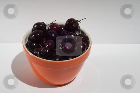 Bowl of cherries stock photo, The Wild cherry, Sweet cherry or Gean (botanic name Prunus avium) is a species of cherry, native to Europe, northwest Africa, and western Asia by Mariusz Jurgielewicz