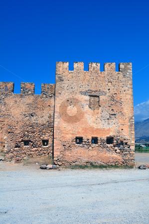 Frangocastello castle. stock photo, Travel photography: Frangocastello: venetian castle on the south coast of Crete by Fernando Barozza
