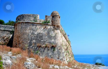 Fortetza: Venetian fortress in Rethymno, Crete stock photo, Travel photography: medieval fortress in Crete, Greece by Fernando Barozza