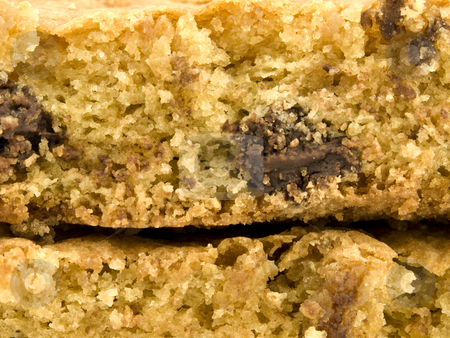 Close up of Chocolate Chip Cookie Bar stock photo, Close up of a Chocolate Chip Cookie Bar by John Teeter
