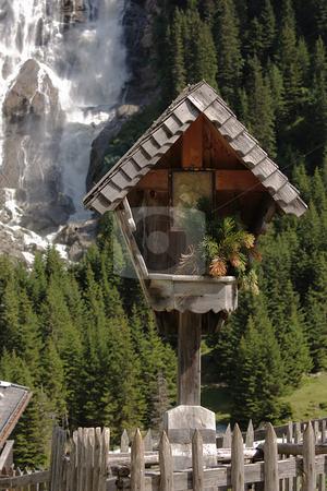 Christian wayside shrine stock photo, Christian wayside shrine in Tyrol / Austria by Andre Janssen