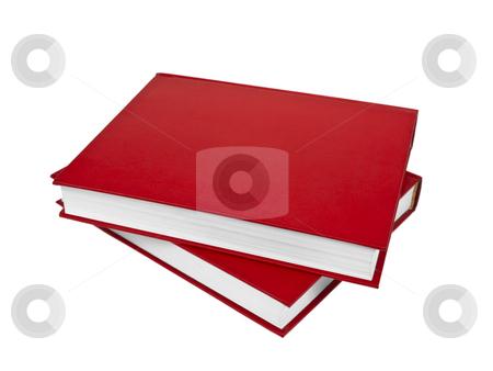 Red books stock photo, Two red books isolated on white background. by Ignacio Gonzalez Prado
