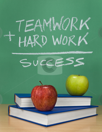 The way of success stock photo, A chalkboard describing the way to success. by Ignacio Gonzalez Prado