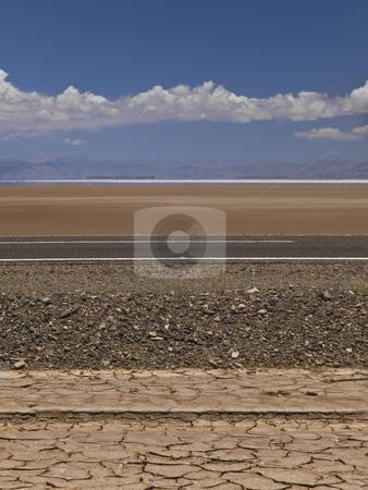 Strata stock photo, A set of different geological strata in a desert near a salt field. by Ignacio Gonzalez Prado