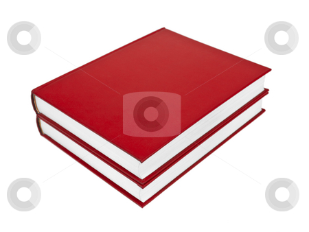 Red books stock photo, Two red books isolated on white background. by Ignacio Gonzalez Prado