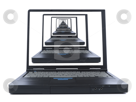To the infinite and beyon stock photo, Infinite laptop view. A global comunication concept image. by Ignacio Gonzalez Prado