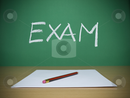 Exam stock photo, A few blank sheets ready for been filled in a exam. by Ignacio Gonzalez Prado