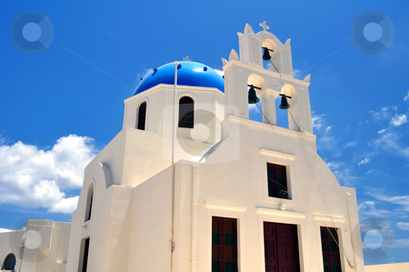 Chapel in Santorini Island stock photo, Chapel in the beautiful island of Santorini, Greece by Fernando Barozza