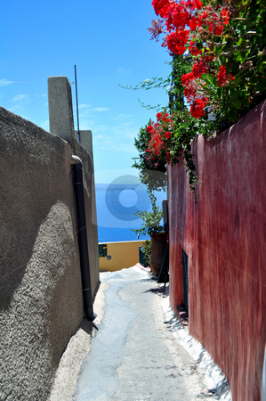 Santorini Island stock photo, Beautiful island of Santorini, Greece by Fernando Barozza