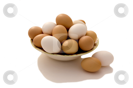 Fresh Eggs stock photo, Farm fresh eggs for your next country breakfast. by Charles Buegeler