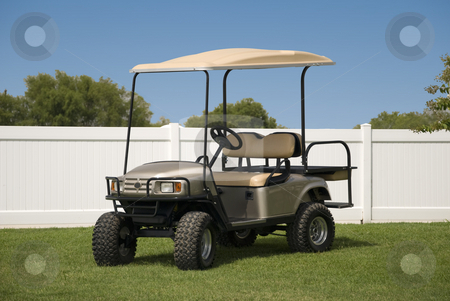 Golf Cart stock photo, New golf cart ready to hit the course. by Charles Buegeler