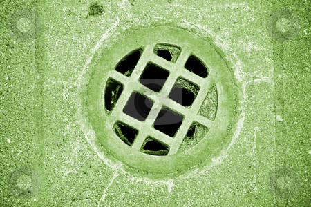 Fort Worden Bunker stock photo, Drain hole at Fort Worden military bunker in Port Townsend Washington. by Travis Manley