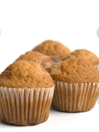 Muffins stock photo, A group of muffins over white background. by Ignacio Gonzalez Prado