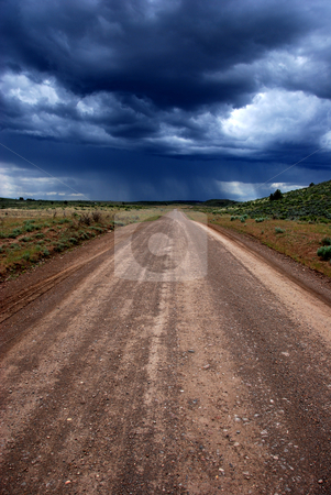 Mud Flat Road stock photo, USA, Idaho, Owyhee County, Owyhee Uplands Scenic Bypass, Mud Flat Road, A Passing Storm by David Ryan