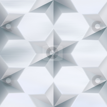 Star Studded Brushed Metal stock photo, A star plate brushed metal texture.  A very nice background for an industrial type look. This tiles seamlessly as a pattern. by Todd Arena