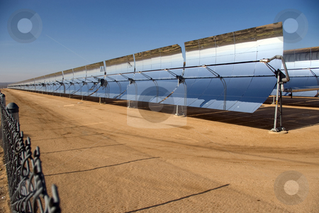 Sun Power stock photo, Solar power plant in the Mojave Desert. by Andrew Orlemann