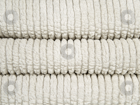 White towels stock photo, Three folded cotton towels. by Ignacio Gonzalez Prado