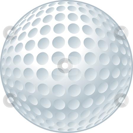 Golf Ball stock vector clipart, Vector illustration of a golf ball. by John Schwegel