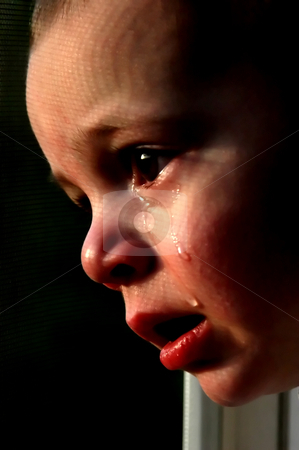 Crying Boy stock photo, Close up on a Baby Boy Crying by Mehmet Dilsiz
