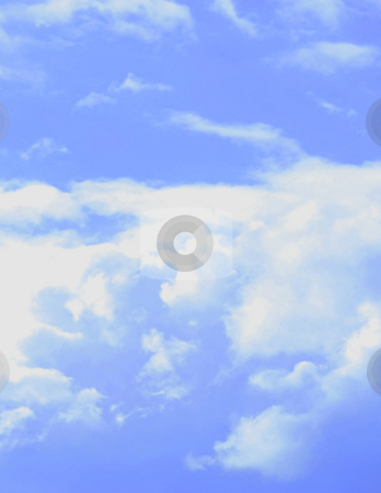 Clouds in the sky stock photo, Blurred clouds in the blue sky by Dmitry Rostovtsev