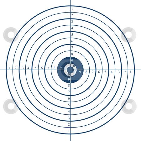 Target stock photo, Illustration of shooting target on white by Dmitry Rostovtsev