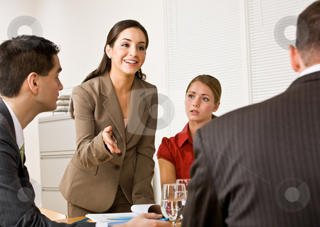 Business people in a meeting stock photo, Business people in a meeting by Jonathan Ross