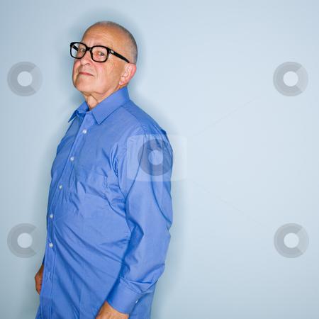 Senior man in eyeglasses stock photo, Senior man in eyeglasses by Jonathan Ross
