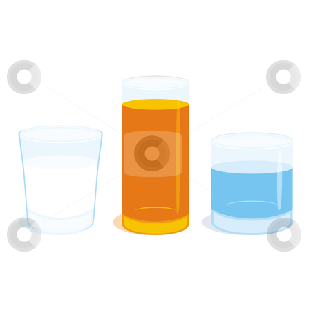 Fully editable vector illustration three different glasses stock vector clipart, Fully editable vector illustration three different glasses by pilgrim.artworks