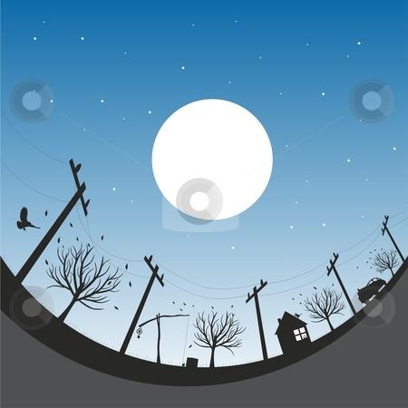 Vector illustration with autumn night sky stock vector clipart, Vector illustration with autumn night sky by pilgrim.artworks