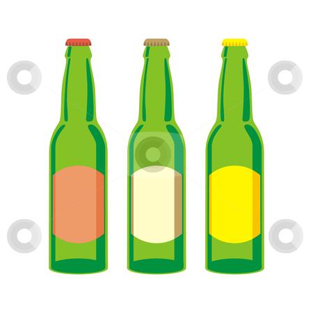 Isolated beer bottles set  stock vector clipart, Vector illustration of isolated beer bottles set by pilgrim.artworks
