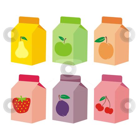 Fully editable vector isolated fruit containers  stock vector clipart, Fully editable vector isolated fruit containers by pilgrim.artworks