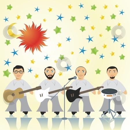 Fully editable vector rock band  stock vector clipart, Fully editable vector rock band by pilgrim.artworks