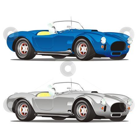 Vector editable isolated convertible cars with details  stock vector clipart, Vector editable isolated convertible cars with details by pilgrim.artworks