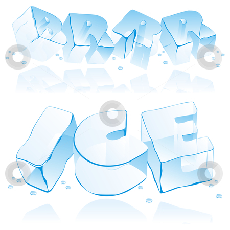 Fully editable vector ice letters stock vector clipart, Fully editable vector ice letters by pilgrim.artworks