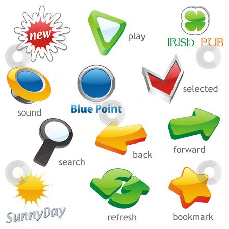 Fully editable vector isolated icons stock vector clipart, Fully editable vector isolated icons by pilgrim.artworks