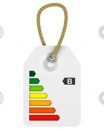 B class energy performance tag stock photo, Tag with B class energy performance by Nuno Andre