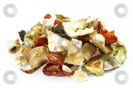 Mixed vegetables stock photo, Dried mixed vegetables in Detail. Shot in studio. by Birgit Reitz-Hofmann