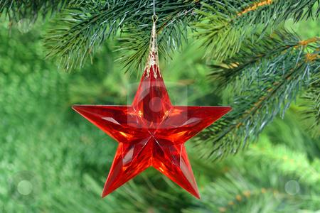 Christmas tree decoration stock photo, Christmas tree decoration on green background by Birgit Reitz-Hofmann