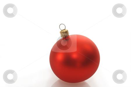 Decorative chrismas ball stock photo, Christmas ball on bright background. Shot in studio. by Birgit Reitz-Hofmann