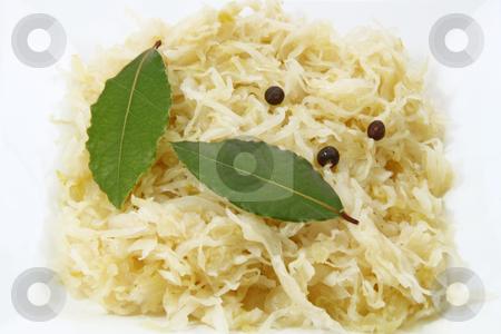 Sauerkraut stock photo, Close up from tasty Sauerkraut. Shot in studio by Birgit Reitz-Hofmann