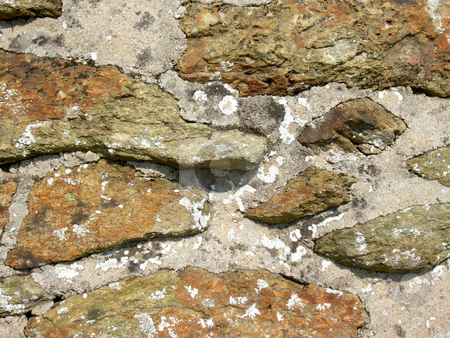 Cobblestone stock photo, Texture of antique stone wall by Birgit Reitz-Hofmann
