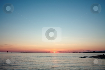 Ocean sunset stock photo,  by Turo Jantunen