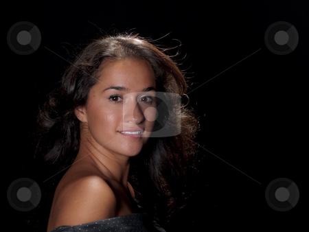 Portrait stock photo, Portrait of a very pretty native american woman by Cora Reed