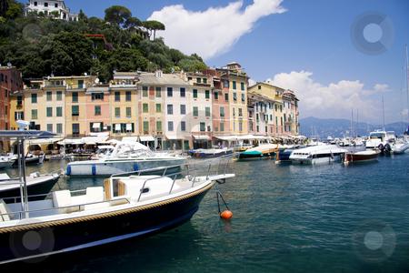 Portofino boats at the bay stock photo, Portofino boats at the bay in Italy by Daniel Kafer