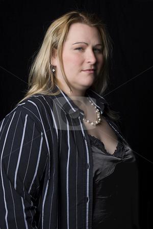Full figure women stock photo, Full figure women in evening clothes by Yann Poirier